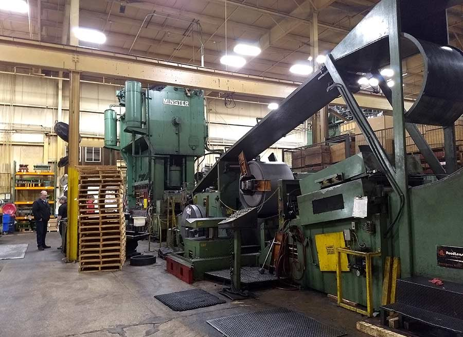 The machinery at a Rockford, Illinois supplier behind Zagster