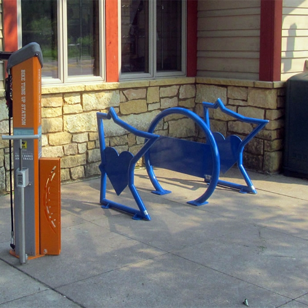 Custom bike parking project for Pedal MN
