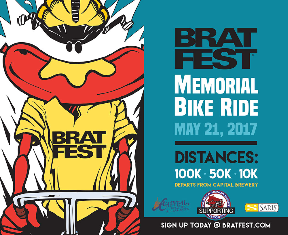 Poster from the Brat Fest Memorial Ride