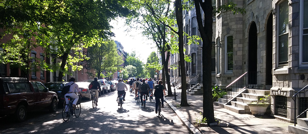 Meandering through Philadelphia's low-stress network of bike lanes and sharrows