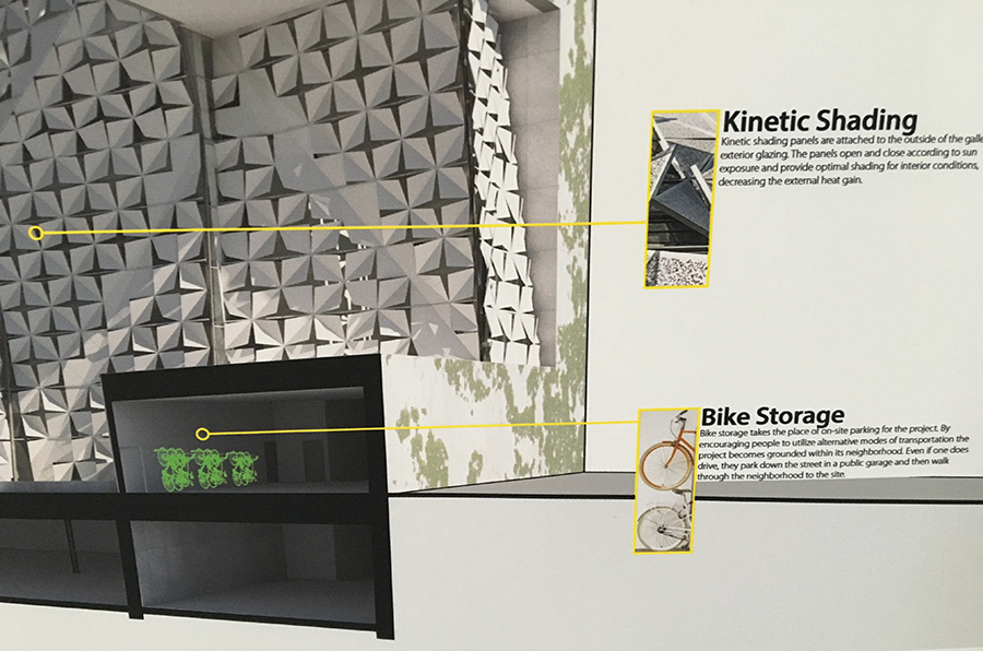 AIA COTE (Committee on the Environment) award winning student project featuring bike parking