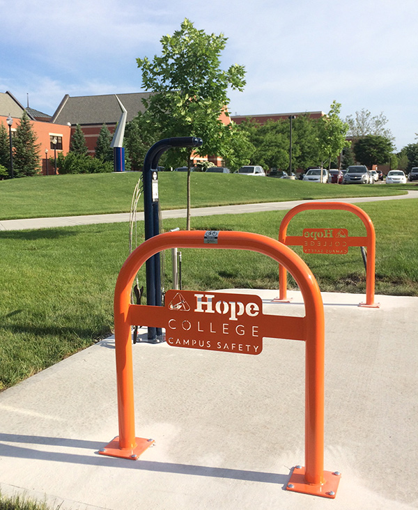 Hope College bicycle parking