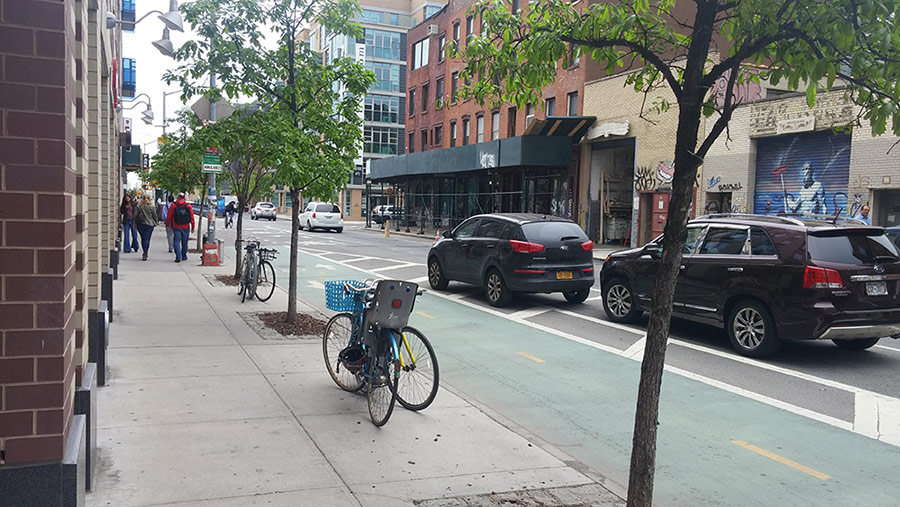 Safe spaces for all modes is Vision Zero; Queens, NYC