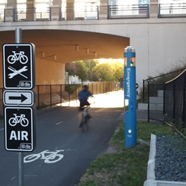 Bike Air/Repair and Arrow Signs