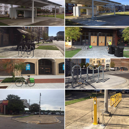 More before and after photos of new parking options in Montgomery, Alabama